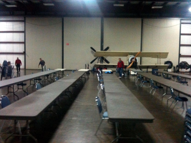 swap meet setting up